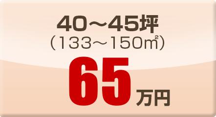 40~45坪(133~150㎡)65万円