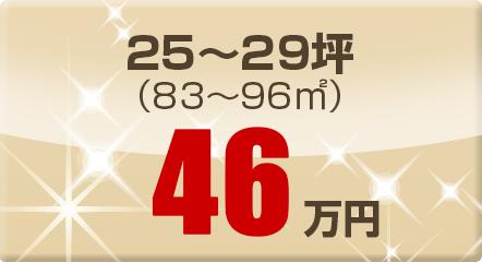 25~29坪(83~96㎡)46万円