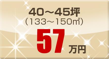 40~45坪(133~150㎡)57万円