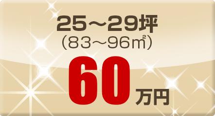 25~29坪(83~96㎡)60万円