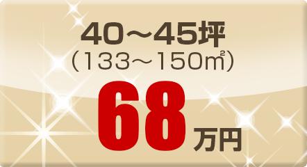 40~45坪(133~150㎡)68万円
